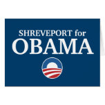 SHREVEPORT for Obama custom your city personalized Card