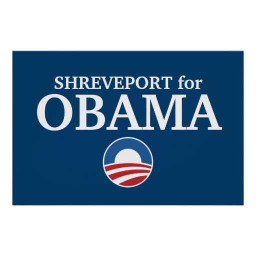 SHREVEPORT for Obama custom your city personalized Poster