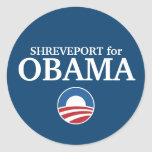 SHREVEPORT for Obama custom your city personalized Round Stickers