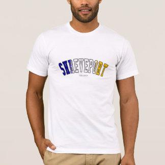 Shreveport in Louisiana state flag colors T-Shirt