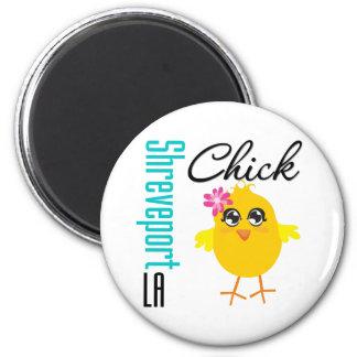 Shreveport LA Chick 2 Inch Round Magnet
