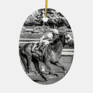 Shrewd One by Smarty Jones Ceramic Ornament