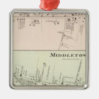 Shrewsbury Middletown, New Jersey Adorno Navideño Cuadrado De Metal