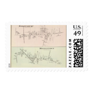 Shrewsbury Middletown, New Jersey Postage