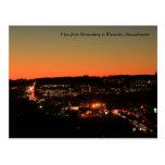 Shrewsbury Worcester Twilight Postcard
