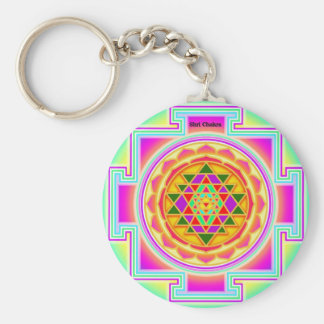 Shri Chakra Llavero Redondo Tipo Pin