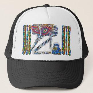 Shri KRISHNA : FLUTE, Peacock Feather, Makhan Trucker Hat