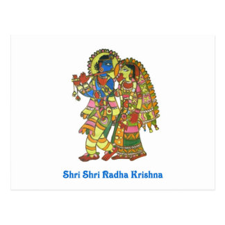 Shri Shri Radha Krishna Postcard