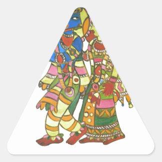 Shri Shri Radha Krishna Triangle Sticker