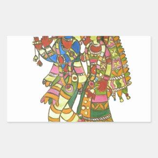 Shri Shri Radha Krishna Rectangular Sticker