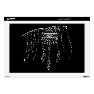 """Shri Yantra and a Dream Catcher. 17"""" Laptop Skin"""