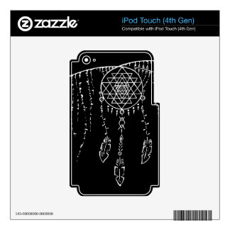 Shri Yantra and a Dream Catcher. Decal For iPod Touch 4G