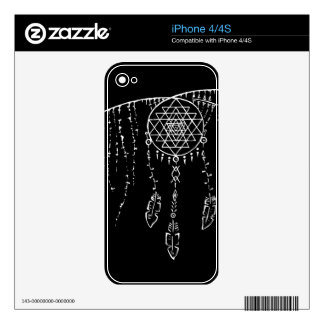 Shri Yantra and a Dream Catcher. Skin For The iPhone 4