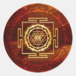 Shri Yantra - conductor cósmico de la energía Pegatina Redonda