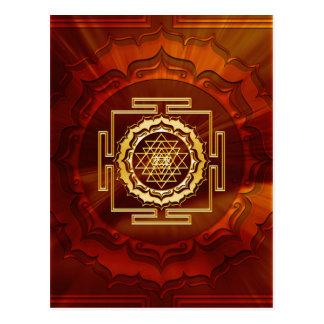 Shri Yantra - conductor cósmico de la energía Tarjeta Postal