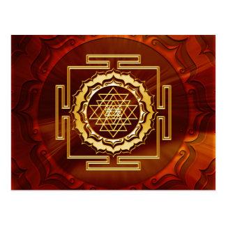 Shri Yantra - conductor cósmico de la energía Postales