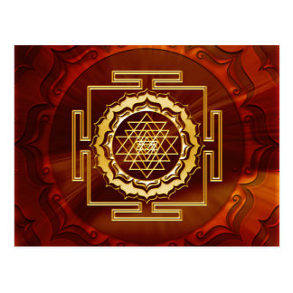 Shri Yantra - conductor cósmico de la energía Tarjetas Postales