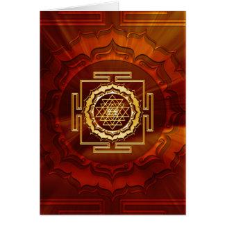 Shri Yantra - Cosmic Conductor of Energy Card