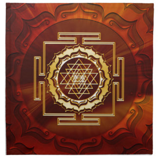 Shri Yantra - Cosmic Conductor of Energy Cloth Napkin