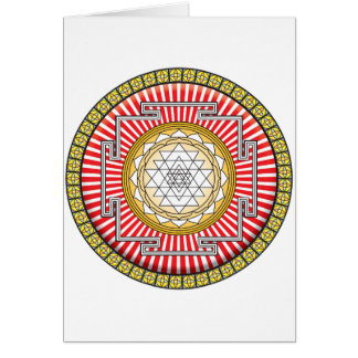 Shri Yantra Icon Greeting Cards
