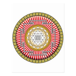 Shri Yantra Icon Post Card