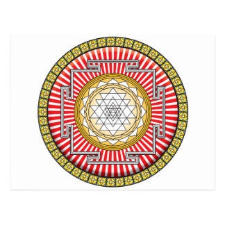 Shri Yantra Icon Post Cards