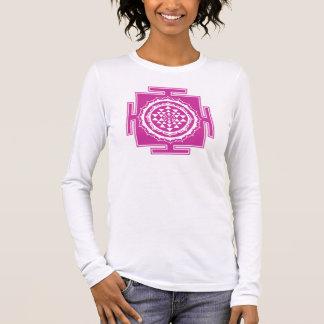Shri Yantra, of Lotus bloom, Buddhism, Chakra Long Sleeve T-Shirt
