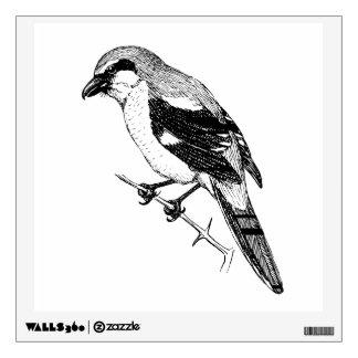 Shrike Bird Bold Line Art Wall Decal