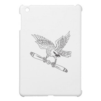 Shrike Clutching Propeller Blade Black and White D Case For The iPad Mini