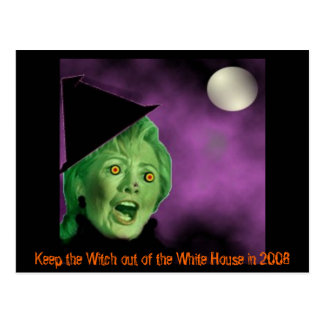 shrillerywitch, Keep the Witch out of the White... Postcard