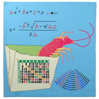 shrimp 12x12 matrix napkin
