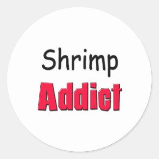 Shrimp Addict Classic Round Sticker