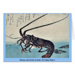 Shrimp and lobster by Ando, Hiroshige Ukiyoe Cards