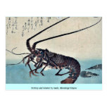 Shrimp and lobster by Ando, Hiroshige Ukiyoe Post Card