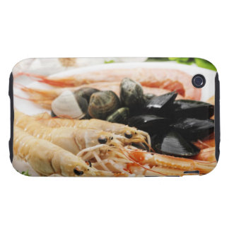 Shrimp and mussels iPhone 3 tough case