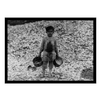 Shrimp and Oyster Boy Worker 1911 Poster