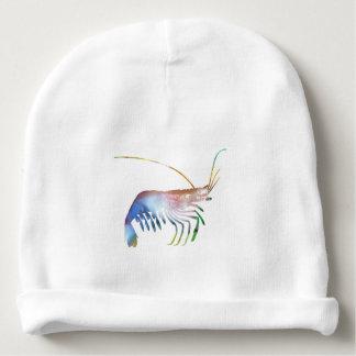 Shrimp art baby beanie