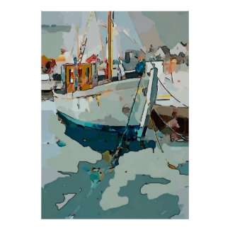Shrimp Boat, abstract