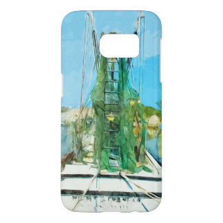 Shrimp Boat Docked Abstract Impressionism Samsung Galaxy S7 Case