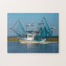 Shrimp Boat  Mississippi. Jigsaw Puzzle