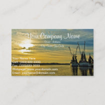 Shrimp Boat Trawlers Business Card