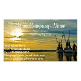 Shrimp boat business cards templates zazzle for Boat business cards