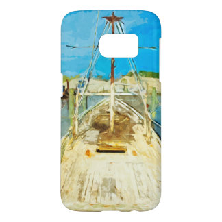 Shrimp Boat Under Repair Abstract Impressionism Samsung Galaxy S7 Case