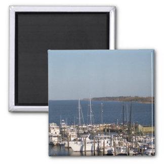 Shrimp boats 2 inch square magnet