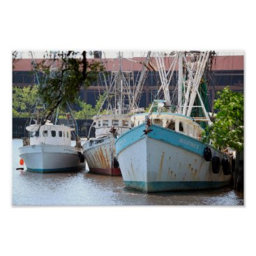 Beach Themed Shrimp Boats of Georgetown Poster