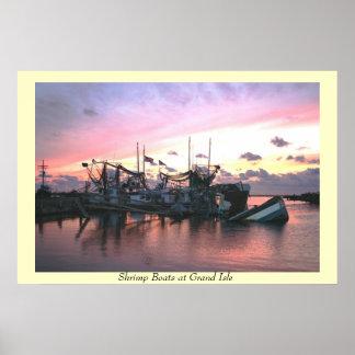 Shrimp Boats st Grand Isle Poster