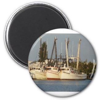 Shrimp Boats x three Magnet