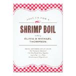 "Shrimp Boil Invitations 5"" X 7"" Invitation Card"