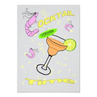 Shrimp Cartoon Cocktail Party Invitation