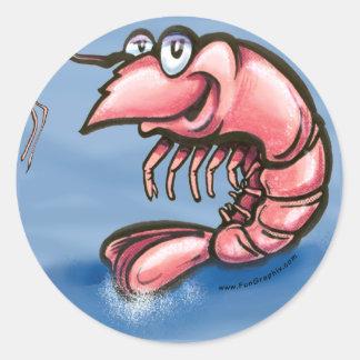 Shrimp Classic Round Sticker